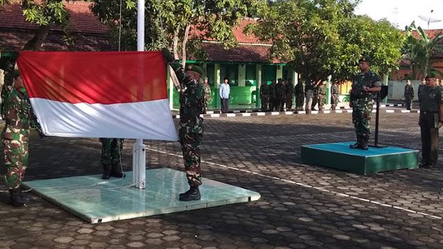 Pimpin Upacara Bendera 17-an, Dandim 0736/Batang Bacakan Amanat Pangdam IV/Diponegoro