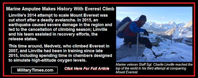 Marine Amputee Makes History With Everest Climb