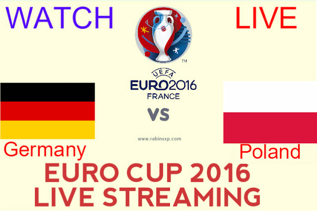 Germany vs Poland Euro Cup 2016 Live Streaming/Banner