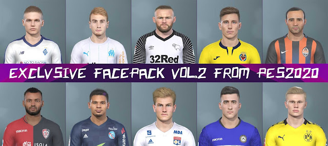 Exclusive Facepack Vol 2 By H.S.H EditMaker For PES 2019