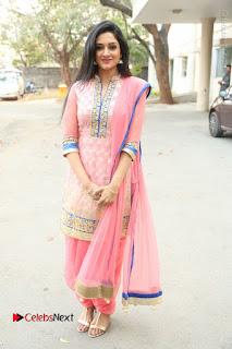 Actress Vimala Raman Stills in Beautiful Pink Salwar Kameez at (ONV) Om Namo Venkatesaya Press Meet  0246.JPG
