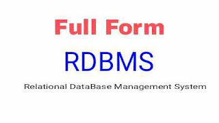 Full Form Of RDBMS
