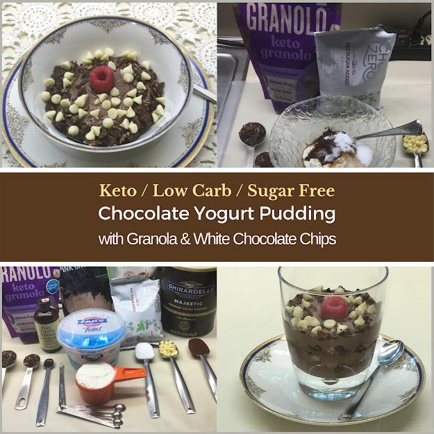Keto Chocolate Yogurt Pudding Parfait