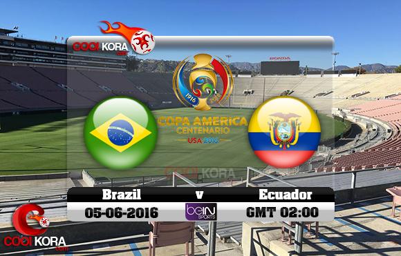 مشاهدة مباراة البرازيل والإكوادور اليوم 5-6-2016 كوبا أمريكا