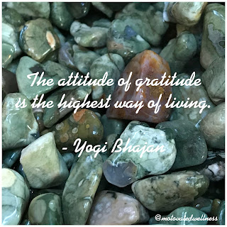 The attitude of gratitude is the highest way of living. Quote by Yogi Bhajan