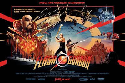 Flash Gordon 40th Anniversary Movie Poster by Matt Ferguson x Vice Press