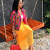 OAP Toke Makinwa Looking Fly In Colourful Outfit In New Photos