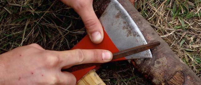 sharpen an axe