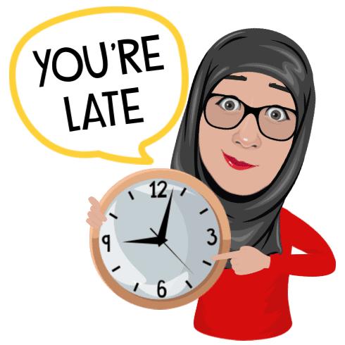 terlambat ke sekolah