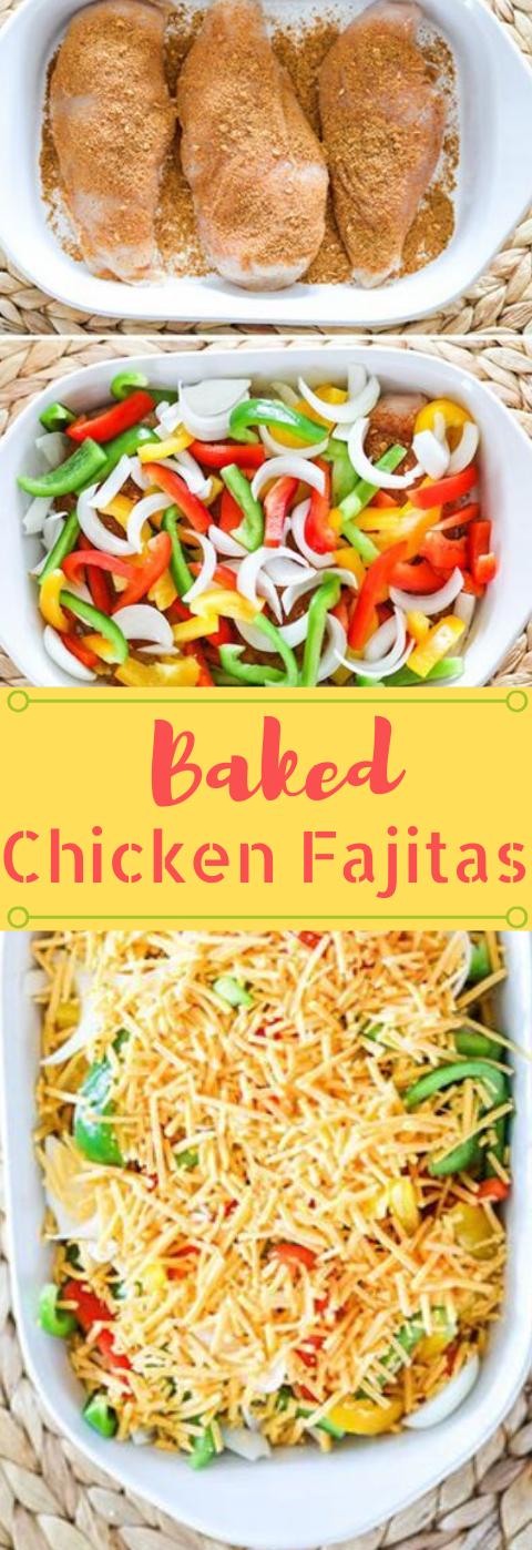 Baked Chicken Fajitas #healthydinner #chicken #baked #fajitas #cauliflower