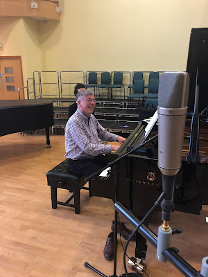 Malcolm Martineau at the recording session for his recent Fauré disc