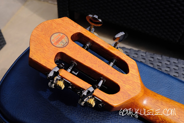 aNueNue ANN-U5K Koa Moon Bird Ukulele rear headstock
