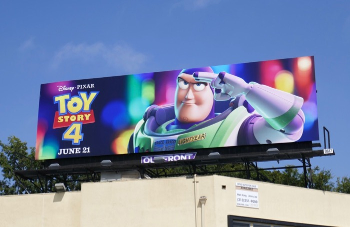 Toy Story 4 Buzz Lightyear billboard