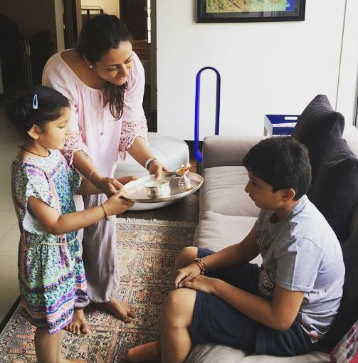 Mahesh babu family celebrating Raksha bandhan