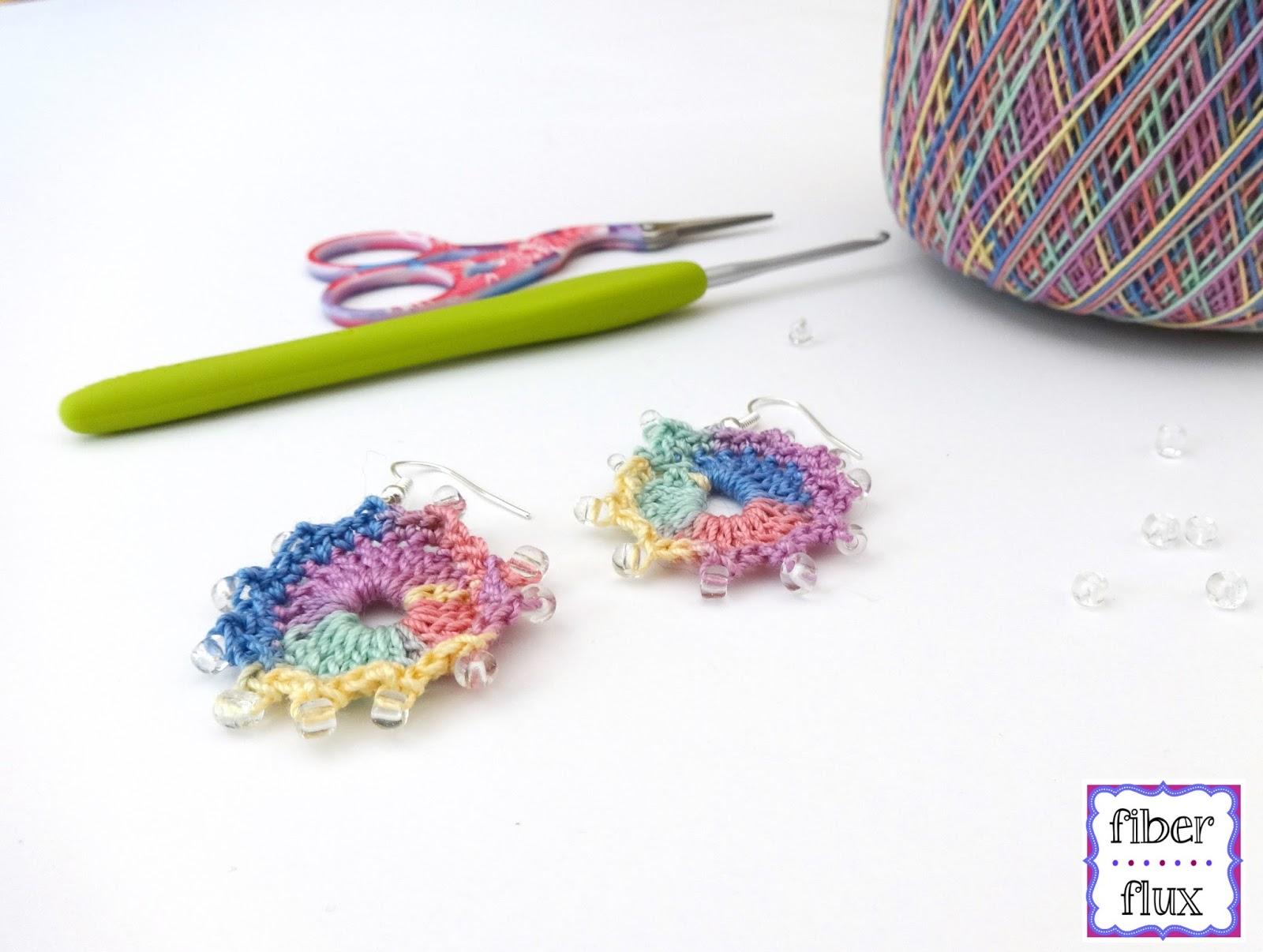 Fiber Flux: Free Crochet Pattern...Summer Sparkle Earrings!