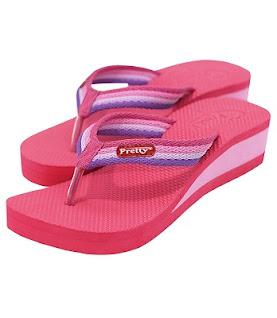 Sandal Pretty Polos warna pink