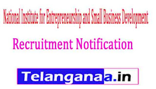 NIESBUD National Institute for Entrepreneurship and Small Business Development Recruitment Notification 2017