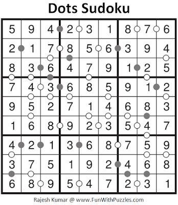 Answer of Dots Sudoku Puzzle (Fun with Sudoku #295)