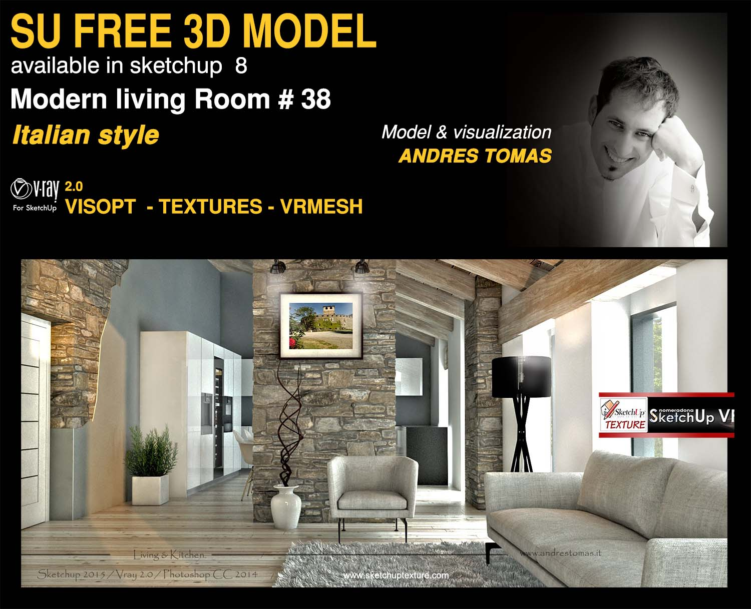 SKETCHUP TEXTURE: SKETCHUP MODEL LIVING ROOM