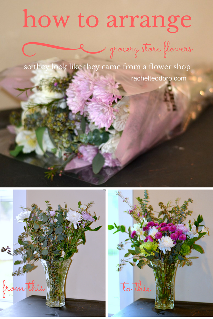 How to arrange grocery store flowers to look like flower shop florist wedding inexpensive flowers cheap how to izmirmasajfo