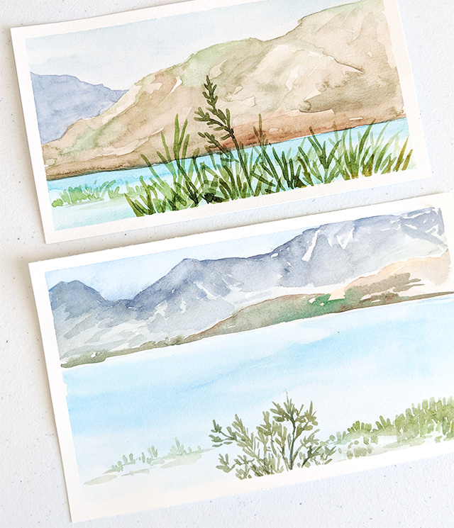 Utah Lake Watercolor Paintings by Elise Engh