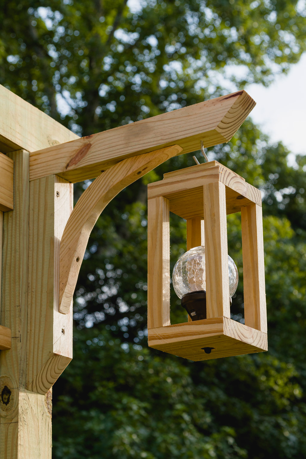 DIY wood solar lanterns