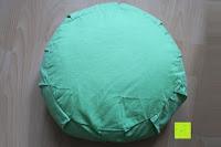 Oberseite außen: Yogakissen »Brahman« mit Reißverschluss & Bio-Dinkelspelz (kbA) Füllung - Maße: ca. 42 x 15 cm - ideal als Zafukissen / Meditationskissen / Rondokissen / Meditiationsunterlage :: waschbarer Bezug / hoher Sitzkomfort - hoher Sitz-Komfort dank Dinkelspelzfüllung / maschinenwaschbar & hautfreundlich. Ideale Hilfsmittel / Accessoire (Sitzkissen) für längere Meditationen. Material : 100% Baumwolle