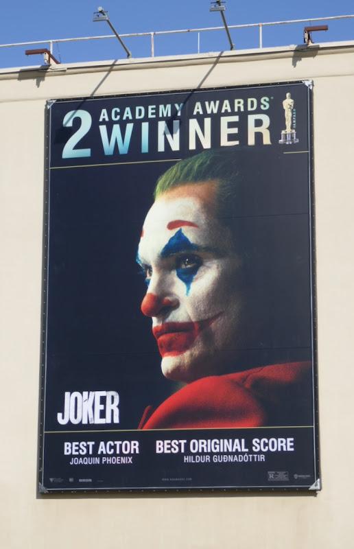 Joker 2 Academy Awards winner billboard