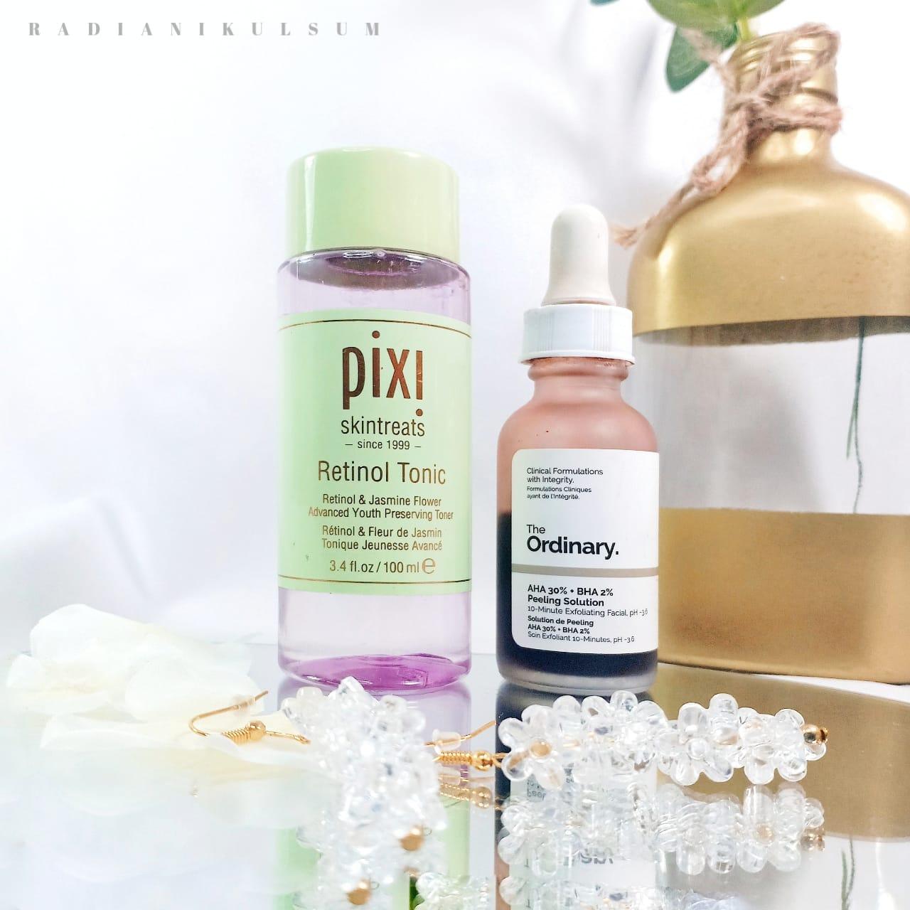 Pixi Retinol Tonic & The Ordinary AHA 30% + BHA 2% Peeling Solution