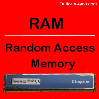 RAM full form? what is the full form of RAM?