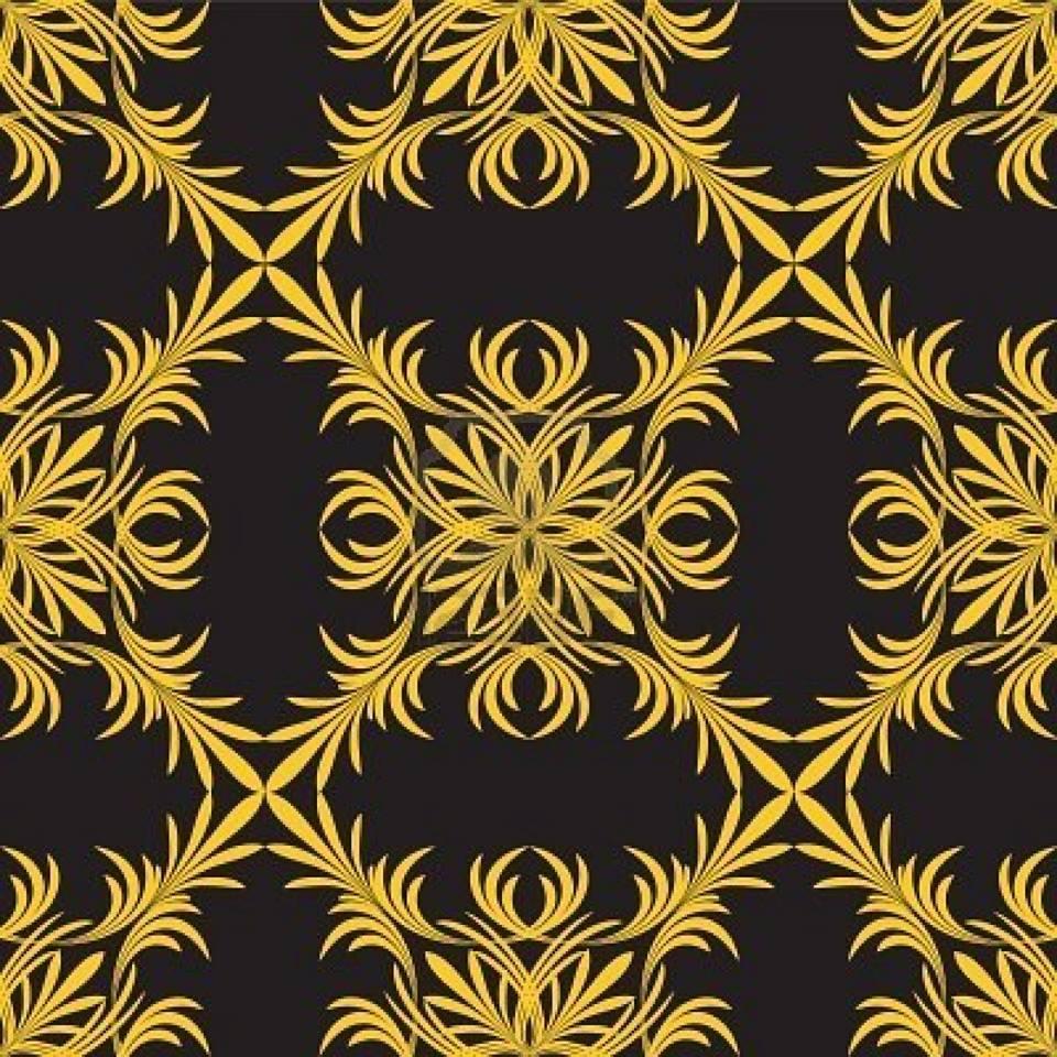 wallpaper motif daun simetris
