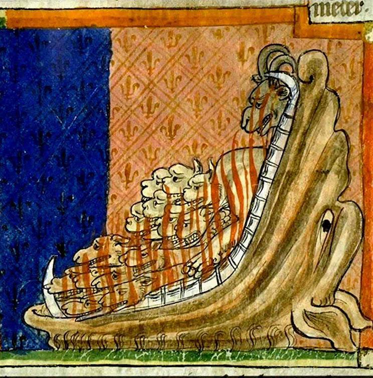 O inferno se abiu e liberou os demônios que infestam a Terra. Bibliothèque municipale de Toulouse