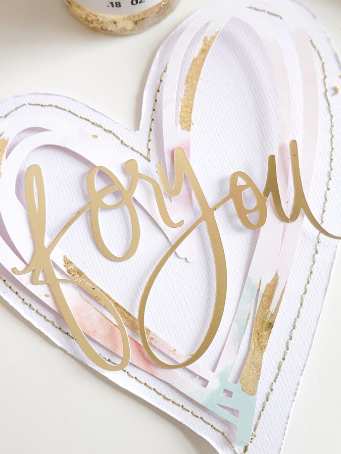 How To Craft Valentine Cards With Foil Flakes by Jamie Pate