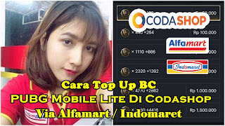 Cara Top Up BC PUBG Mobile Lite Di Codashop Via Indomaret / Alfamart