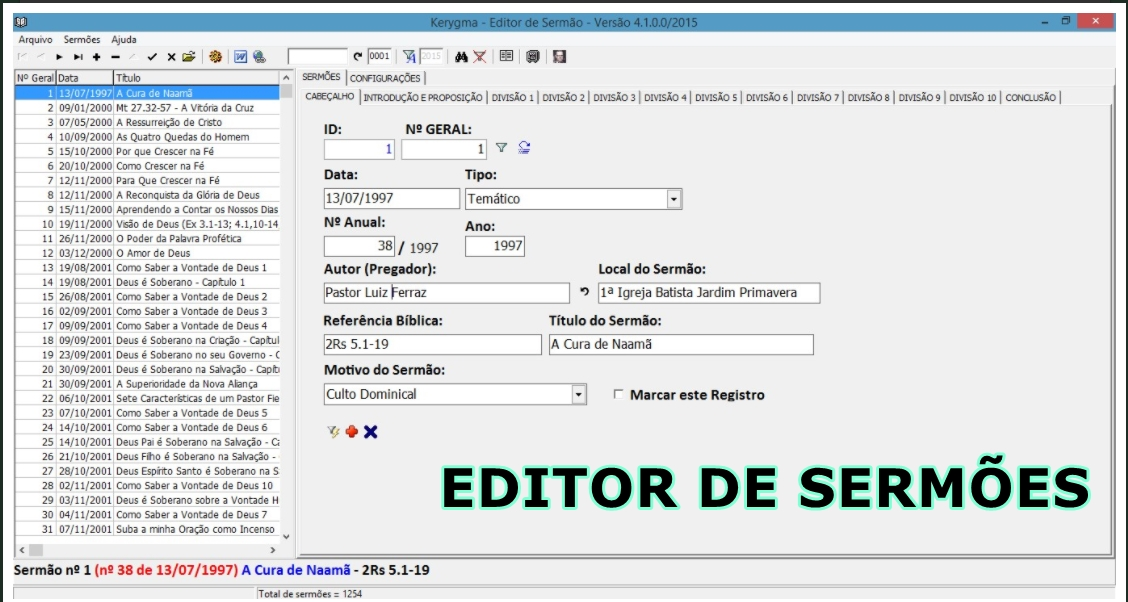 editor de sermoes