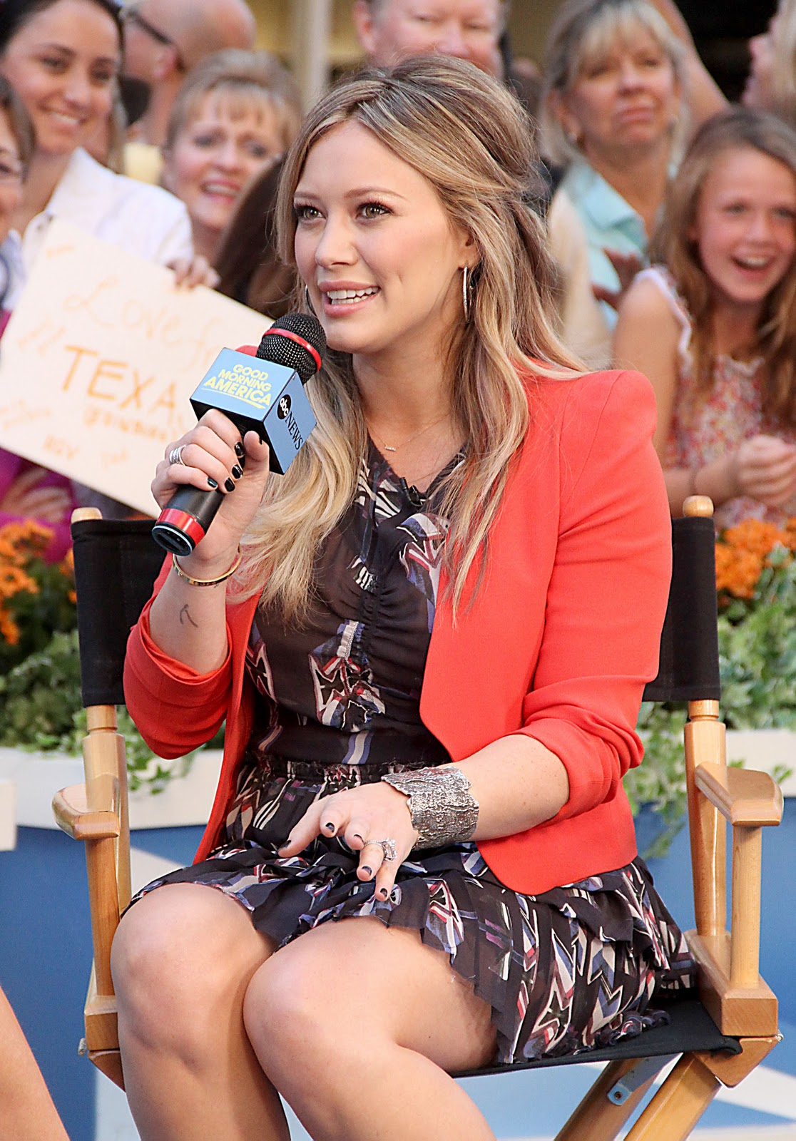 Hilary Duff On Good Morning America In Nyc Disney Star