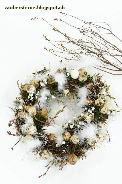 Frühlingskranz, Osterdekoration, Frühlingszauber, Kranz selber machen, Osterfloristik, Blog Schweiz