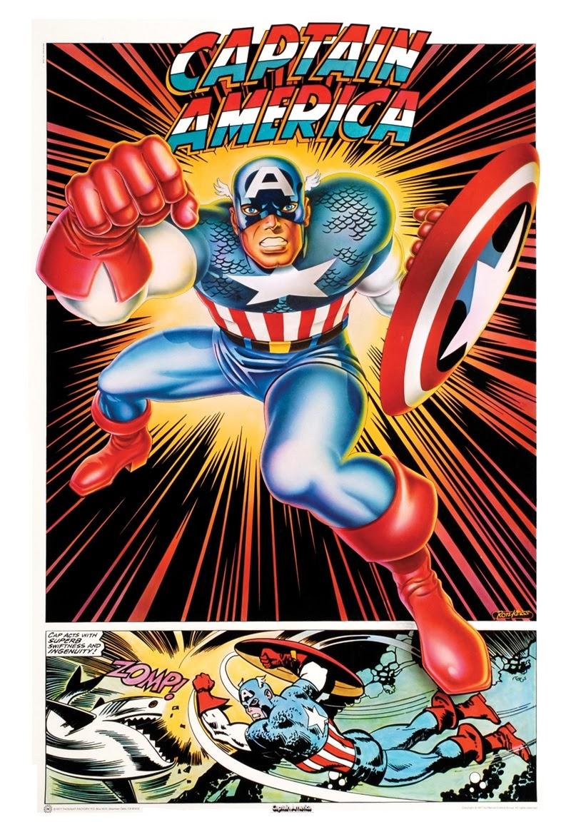 marvel comics of the 1980s 1977 thought factory super hero posters