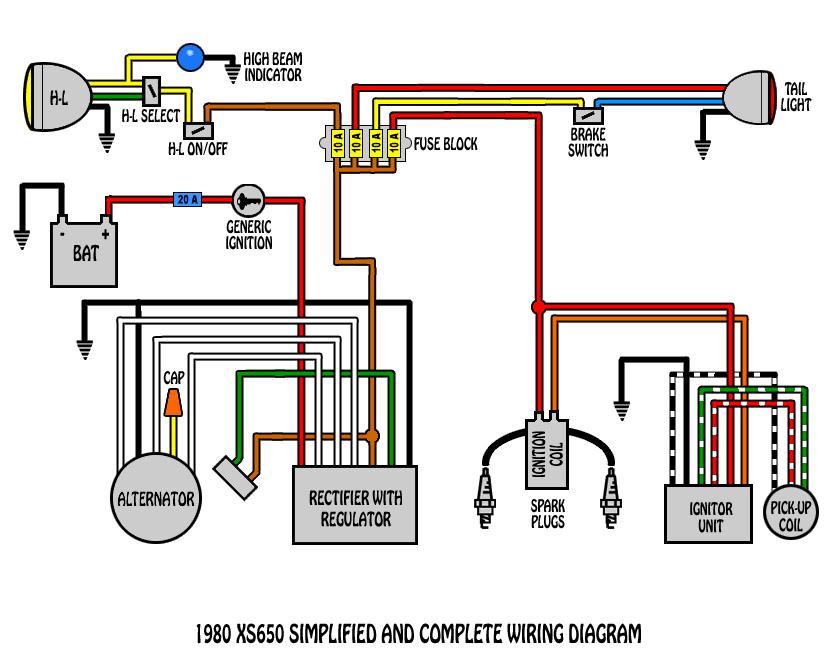 xs650 wiring schematic engine