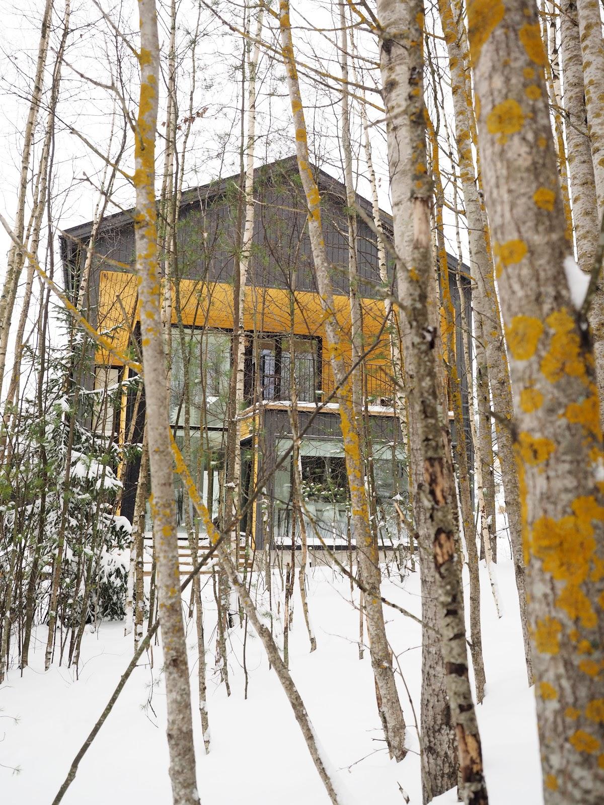 lumi, moderni talo, ulkoväritys