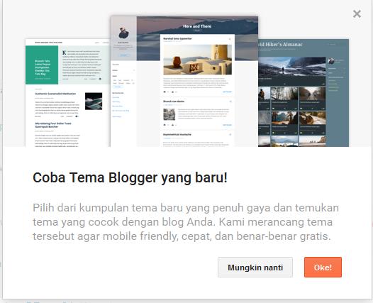 Template Baru Blogger
