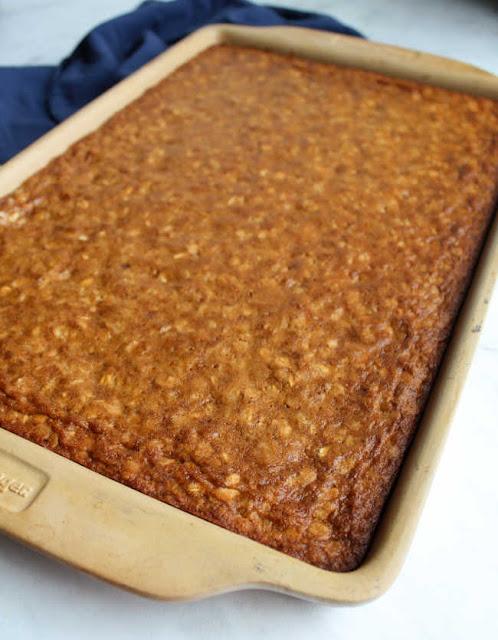 fresh baked oatmeal cookie bars