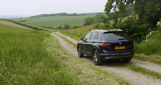 Volkswagen Tiguan on a country track