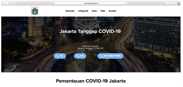 Tim Tanggap Covid 19 Jakarta Perkenalkan Situs Khusus Informasi Seputar Corona