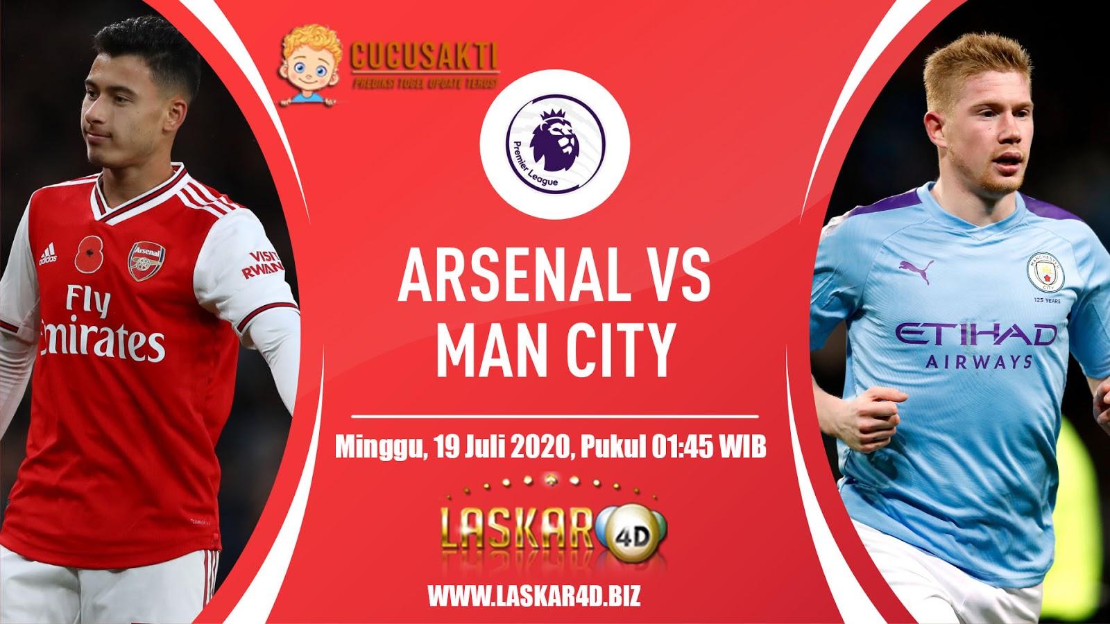 Prediksi Bola Arsenal vs Manchester City MInggu, 19 Juli 2020