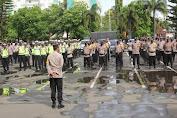 Kapolresta Bandar Lampung Pimpin Apel Pengamanan Misa Malam Natal