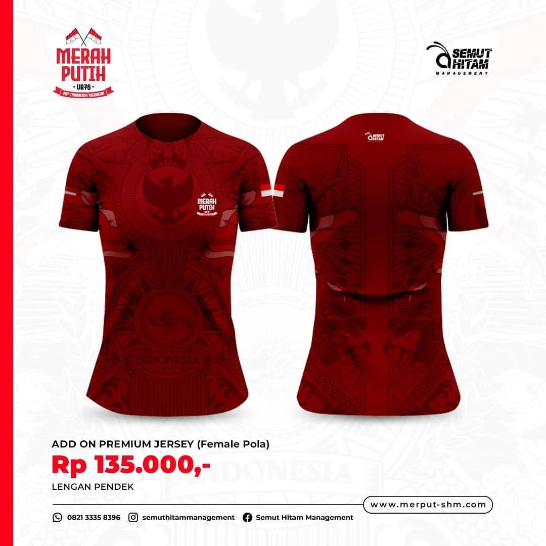 Jersey 👕 Merah Putih Virtual Run • 2021