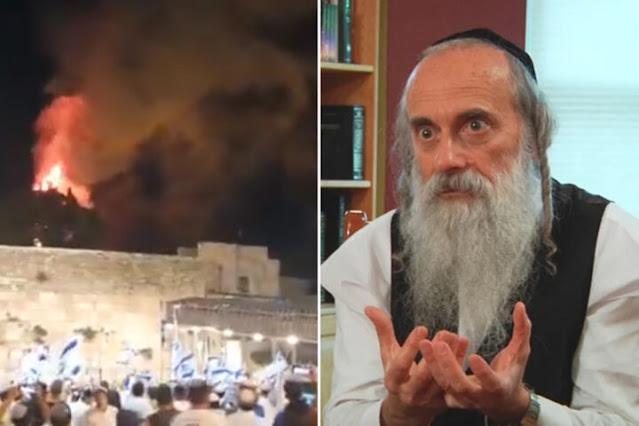 Rabino diz que incêndio no Monte do Templo é um sinal para a volta de Messias
