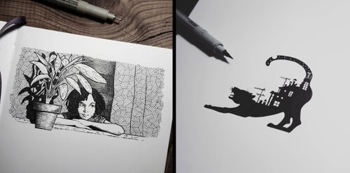 00-Ink-drawings-Dani-Torres-www-designstack-co
