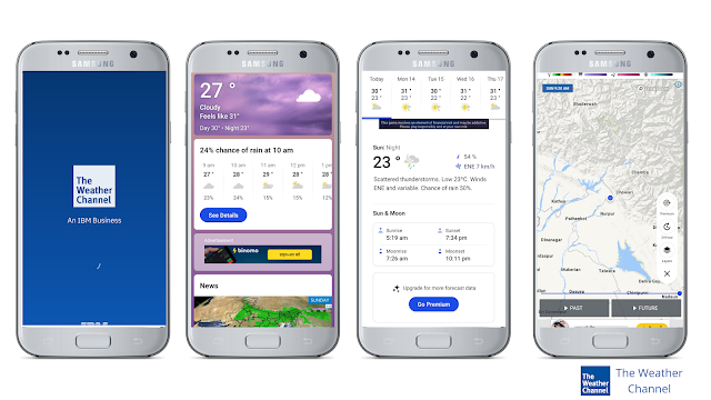The weather channel, best weather app for Android